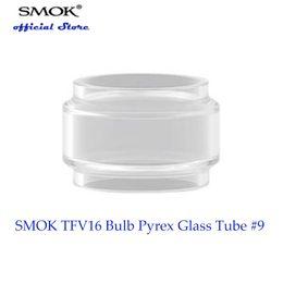 projetos originais do vidro Desconto 100% Original SMOK TFV16 Lâmpada Pyrex Glass Tube # 9 Com capacidade de suco de 9 ml projetado para o tanque SMOK TFV16