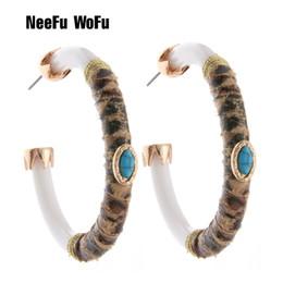 chinesische tigerkunst Rabatt NeeFuWoFu Kreolen Tiger Leder Harz-Ohrring für Frauen der chinesischen Art Big Ohrring Boucles Oorbellen Brincos Ohr