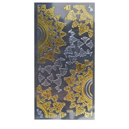 Тисненые листы онлайн-1 Sheet Embossed 3D Nail Art Stickers Blooming Flower Decals Tips Decoration DIY nail designs with crystals accessories #9