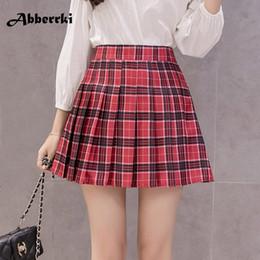 mini falda estilo coreano Rebajas Las mujeres del estilo coreano cremallera cintura  alta falda niña de 56e8bf5850e8