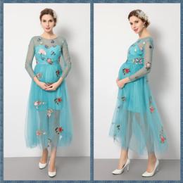 2019 projetos da borboleta da roupa Vestidos de maternidade 2019 marca princesa dress borboleta bordado moda design mulheres roupas grávidas dress fotografia adereços projetos da borboleta da roupa barato