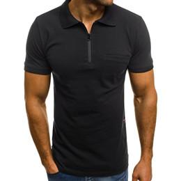 mens t shirts poches Promotion T Shirt Personnalité Casual Slim Manche Courte Poches T-shirts Top Hommes Couleur Unie Blouse Hommes Vêtements 2019