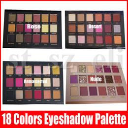 Palette di glitter online-Marca Occhi trucco della gamma 18 di scintillio di colori luccichio opaco Eye Shadow Palette Cosmetics