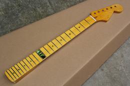 guitarra eléctrica con incrustaciones de llama Rebajas Envío gratis nuevo Yellow Maple Electric Guitar Neck con 22 trastes, Flame Maple Neck, Colorful Shells Inlay, ofreciendo servicios personalizados