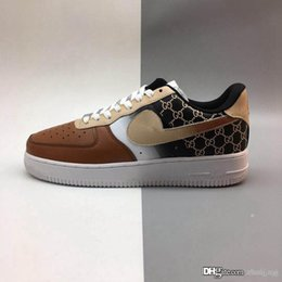 Argentina Nuevo estilo Apenas haga AF1 07 Baja 1 DLX zapatos corrientes Atmos aq0928 Tamaño Maxes 1 Mujeres Negro Blanco Naranja zapatillas de lona de la manera 36-45 Suministro