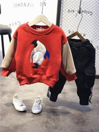 Argentina 2 UNIDS WLG niños ropa conjunto niños niño remiendo sudaderas con capucha y pantalón bebé de dibujos animados ropa de acción de gracias niños 2-7 años cheap thanksgiving 2t Suministro