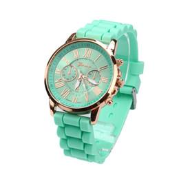 Relojes de pulsera de pulsera antiguos online-Ginebra Reloj de Mujer Reloj de Tungsteno Jelly Gel de Cuarzo Analógico Reloj de pulsera Números Romanos Relojes de pulsera antiguos de silicona Ver = STN