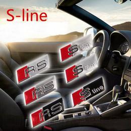 SLINE Наклейка с эмблемой рулевого колеса A3 A4 A5 A6 A8 Q3 Q5 Q7 RS4 RS5 CC TT от