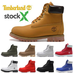 scarpe da ginnastica per uomo Sconti Stock X luxury Timberland boots shoes Brand mens winter Snow boots womens men Military Triple White Black Camo Green sports sneakers