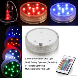 5050 SMD 10 LED Dalgıç Mum Lamba Uzaktan Kumanda Renkli Vazo Altında Altında Su Geçirmez Işık Düğün Doğum Günü Partisi De ... nereden
