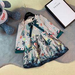 Westliche röcke prinzessin online-Musterentwurf pastoral Mädchen Herbst Princess Western-Art-Kinder-Designer Luxus-Rock-Kinder 0818