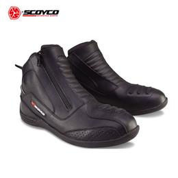 Canada SCOYCO Bottes de moto Bottes moto vintage pour hommes Bota Motociclista Moto Chaussures Motocross Chaussure Noir Offre