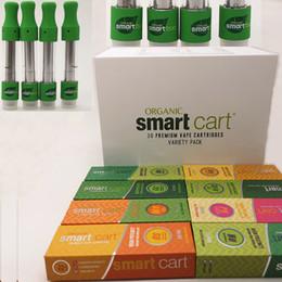 Pontas de cobre on-line-SmartBud Smart cartuchos Vape Pen Cartuchos Caixa Magnética 0.8ml 1.5mm * 4 Grosso Óleo De Cerâmica Bobina Bocal De Cobre Parafuso Dica 30 Caixa De Exposição