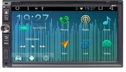 Espejos de cámara gps online-Cámara frontal / de respaldo + 6.95''Car Reproductor de DVD Android 6.0 En el tablero Unidad principal Doble 2Din Navegador GPS Car Audio Bluetooth Espejo Enlace
