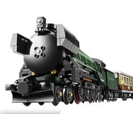 2019 kits de trenes de juguete 21005 21046 1085 unids Technic Series Emerald Night Train Kits de construcción modelo Bloques de ladrillos Juguetes para niños 10194 21046 Y190606 kits de trenes de juguete baratos