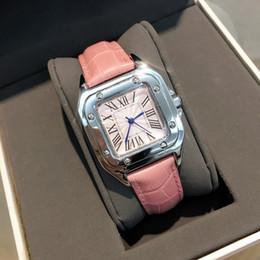 marcas de relógios de senhoras famosas Desconto Alta qualit Moda senhora relógio mulheres relógio de couro rosa famosos relógios de Pulso De Aço Inoxidável Marca feminino Relógio de Quartzo Relojes De Marca Mujer