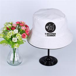 d96a05ec1e5 5 Seconds of Summer Logo Summer Hat Women Mens Panama Bucket Hat 5 Seconds  of Summer Design Flat Sun Visor Fishing Fisherman Hat