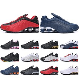 table for 12 Promo Codes - New Style Shox R4 OG Running Shoes For Men Women Zapatillas Hombre Breathable leather Mens Trainers Designer Athletic Sneakers US 5.5-12