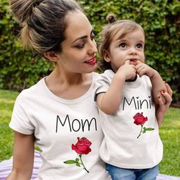 camisas da harmonização da mamã do bebê Desconto rosa mãe filha camiseta mamãe e me roupas família roupas combinando olhar mãe e filha vestido mãe bebê vestidos roupas