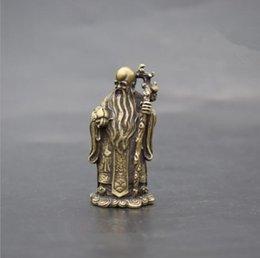 buda de bronze antigo Desconto Bronze Fu Verde Shou pequenos enfeites de bolso de cobre estrela de aniversário bolso Buda antigo escultura em bronze antigo cobre cobre diversos Bud
