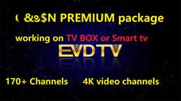 Premium-tv online-Premium-Paket von EVDTV 170 Kanälen 4K-Video-Kanäle ARABIC VOD EPG auf Smart-TV-Android-TV-Box MAG250 254 mobilen Computer arbeiten