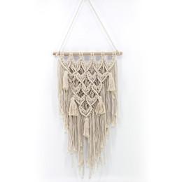 tapices hechos a mano Rebajas Colgante de pared hecho a mano Macrame Ceremonia de Boda Telón de fondo Arte de La Pared Tapicería Boda Hogar Sala de estar Decoración