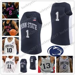 6a6a7a76c8f Custom Penn State Nittany Lions Basketball Navy Blue Gray White Jerseys Any  Name Number 11 Lamar Stevens 13 Rasir Bolton 23 Josh Reaves