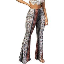 Canada Mode Femmes Loisirs Impression Large Jambe Taille Haute Élastique Serré Leggings Pantalon Legging Sans Soudure Gym Erings Fanatique cheap womens elastic Offre