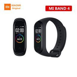 armband geschliffen Rabatt Spitzenverkäufer Original Xiaomi Mi Band 4 3 Smart Armbanduhr Armband Miband 4 OLED Touchpad Schlaf Monitor Herzfrequenz Fitness Tracker