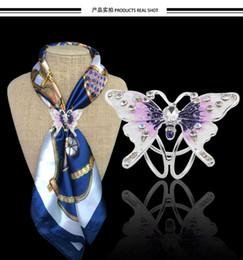 Canada Nouveau Bijoux De Mode Cristal Émail Broche Beau Papillon Grande Boutonnière Écharpe Boucle Broche Broches Pour Les Femmes CY223 Offre