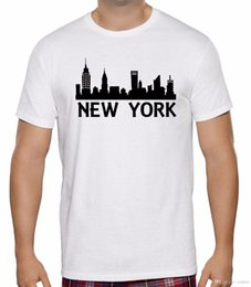 paesaggistica new york Sconti NEW MENS WOMENS KIDS NEW YORK SKYLINE SILHOUETTE LANDSCAPE T-SHIRT ETÀ 1 - 6XL