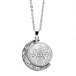 Rueda giratoria online-Kell Special One Year Wheel Rotating Necklace Marca Party Charms Crystal Fine Designer Jewelry Mujer Collares Para Mujeres