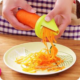 fragmento espiral Desconto Frete grátis Hot Cozinha Gadget Funil Vegetal Cenoura Radish Cutter Shred Slicer Dispositivo Espiral