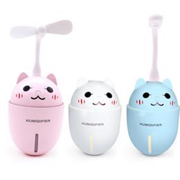 3 en 1 320ML Humidificador de aire USB Ultrasónico Cute Pet Mini Humidificador con luz LED Mini USB Ventilador desde fabricantes