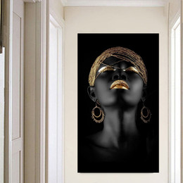 women room paintings Coupons - Canvas Painting Wall Art Pictures prints Black woman on canvas no frame home decor Wall poster decoration for living room