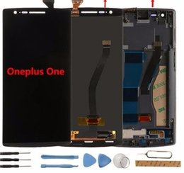 Wholesale Una pantalla LCD Pantalla táctil con marco Prueba Buena Reemplazo de accesorios del panel de vidrio del digitalizador para One Plus