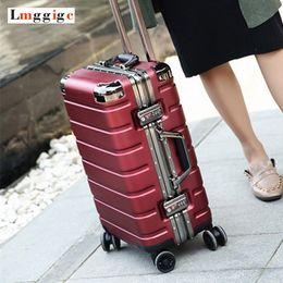 "Универсальный проездной багаж онлайн-20""24""inch High quality +PC shell Rolling Suitcase Travel Luggage Bag Universal wheel trip Box Trolley Case"