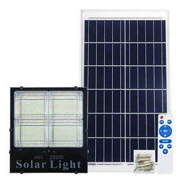 Lámpara de calle solar con doble emisión de colores 25W 60W 120W 200W LED Luz solar con pantalla de carga Proyector solar al aire libre Lámpara de proyector desde fabricantes