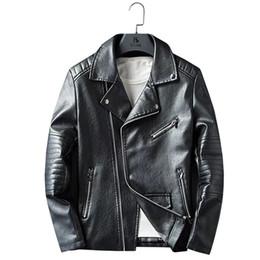 2019 cuir de vachette épais 2019 occasionnels en cuir conception masculine court en cuir moto vestes en cuir de vachette épais manteaux d'hiver cuir de vachette épais pas cher