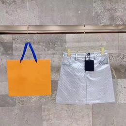 2019 falda cola sirena 2019 Mujeres Moda Diseñador de lujo Catogram Motif Impreso Mini A-Line Falda Niñas Falda con estampado de letras Faldas de pista Falda mini vestido femenino