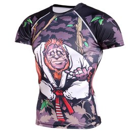 Entrenamiento Culturismo camiseta Transpirable Gimnasio Impreso en 3D Correr Ajustado Cuello redondo Manga corta Hombres Camiseta de secado rápido desde fabricantes