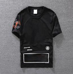 Camiseta casual Ropa de hombre Camiseta de diseñador de verano Negro Blanco Naranja Tamaño S-XXL Mezcla de algodón Cuello redondo Manga corta Estampado de dibujos animados desde fabricantes