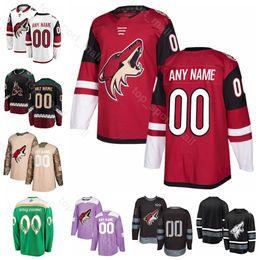 68c77e222c4 Men Kids Women Arizona Coyotes 9 Clayton Keller Jersey Alex Galchenyuk Shane  Doan Vinnie Hinostroza Richard Panik Ice Hockey Red White Black