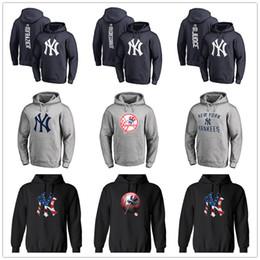 new york sweatshirts Rabatt New York Herren Designer Hoodies Yankees Branded Primär Logo Pullover Hoodie mit Spleißen Kordelzug Volle Ärmel Hoody Sweatshirts gedruckt