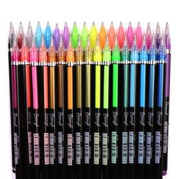 2019 stylo à colle en gros 48 Couleur Gel Pen flash Pen Coloring Pastel fluorescent Bureau Métal Couleur Art Graffiti Peinture étudiants Papeterie créative