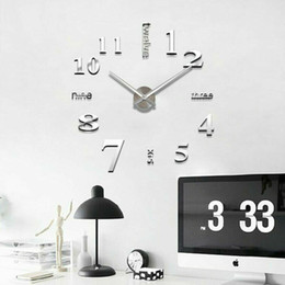 2020 autocollants horloges enfants Moderne bricolage 3D Grand Nombre Horloge murale Miroir Sticker Décor Intérieur Chambre Enfants autocollants horloges enfants pas cher