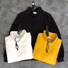 2020 panno di hoodies di modo A manica lunga di nuovo modo di inverno di autunno del cotone degli uomini con cappuccio Hip Hop felpate brillanti Maglione 8107 S-XL 2019 nuovo tessuto panno di hoodies di modo economici