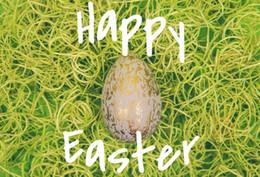 Argentina Laeacco Fondos de fotos Verde Haystack Huevo de Pascua Retrato de niño recién nacido Telones fotográficos Photocall Estudio fotográfico supplier easter egg photos Suministro