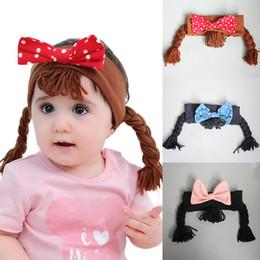 Skorpion zubehör online-12 Arten Baby-Bogen-Stirnband-Kinder Skorpion Haarband Perücken Punkt-Bogen-Haarbänder tragen Ente Stirnband Kinder Haarschmuck M467