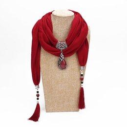 Canada Bijoux Collier tendance Pendentif écharpe femmes Bohème Foulard tête Echarpes Accessoires LE371 Offre